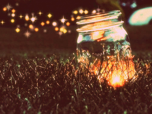 fireflies jar field via Pinterest and Oh Hello You Pretty Things Tumblr - cinemascope glow 1960s effect